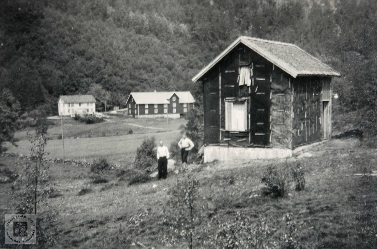 Kommunal bolig under oppføring på Ågedal i Bjelland, nå Audnedal.