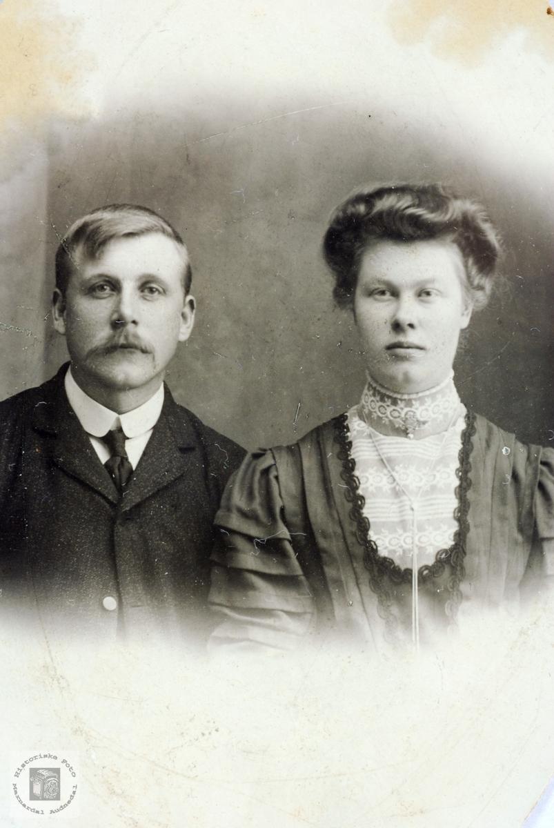 Portrett av ekteparet Ole og Ingeborg Førland.