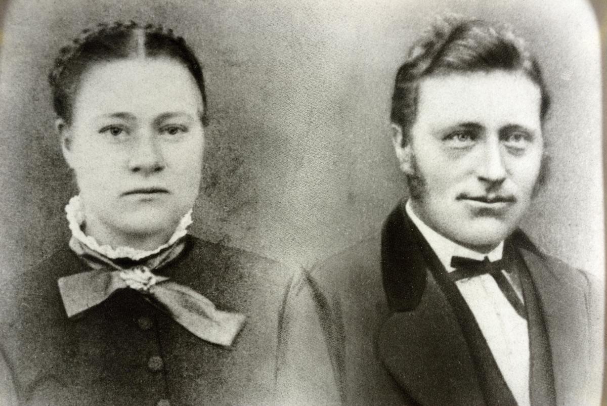Portrett av Jensine og Ola Grostøl.