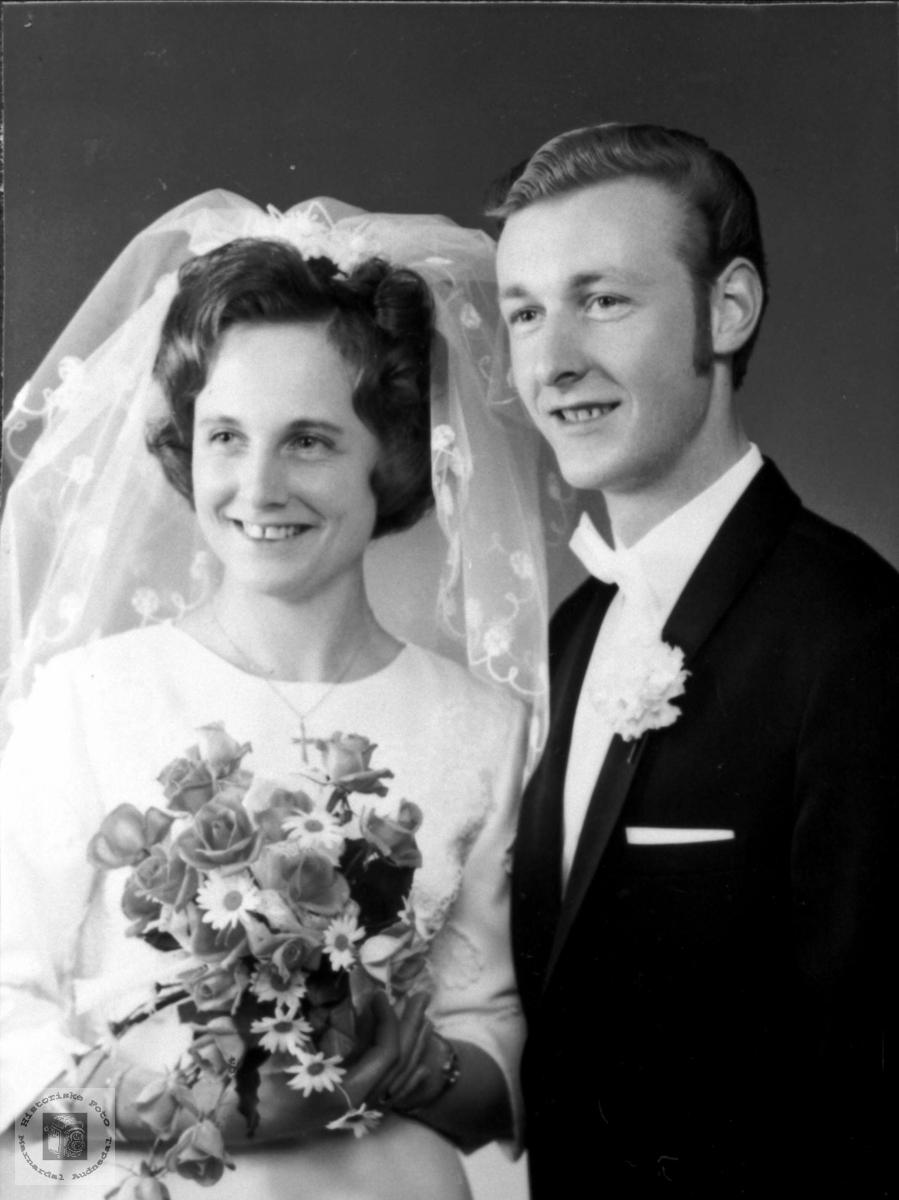 Ekteparet Marit og John Sverre Hjemlestad. Bjelland.