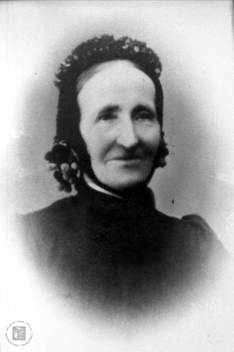 Portrett av Olu Kristensdtr Øyslebø 1822-1908.
