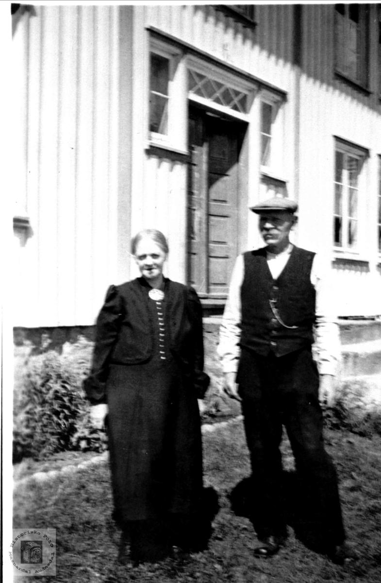 Ekteparet Thori og Tobias Gabrielsen, Øyslebø.