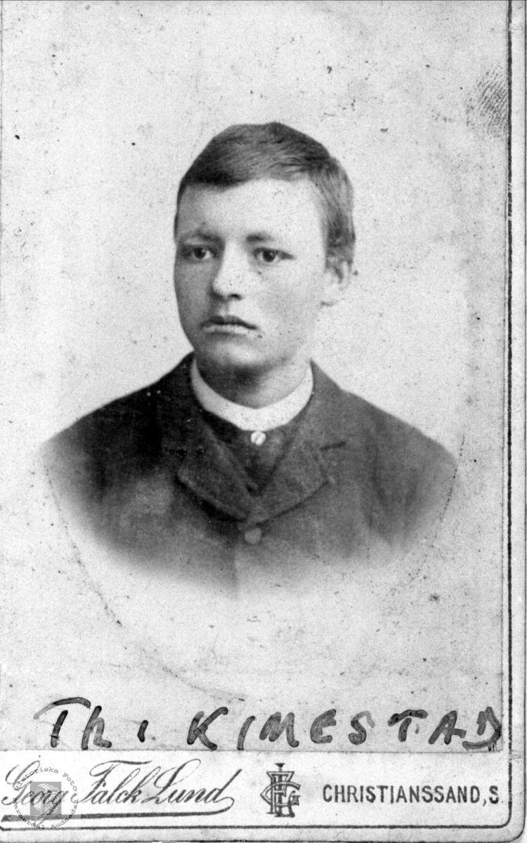 Portrett av Theodor A,  Kimestad, trolig Søgne.