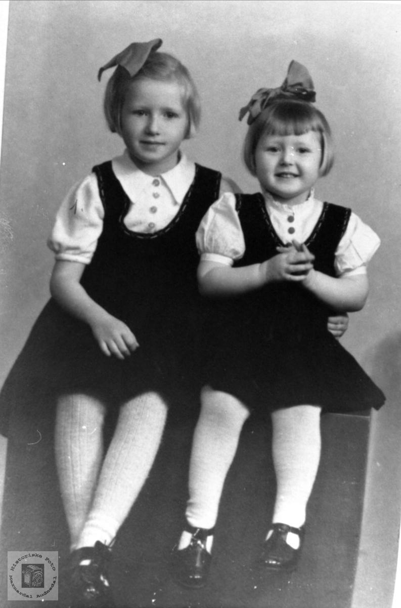 Søstrene Målfrid og Gerd Gustavsen.
