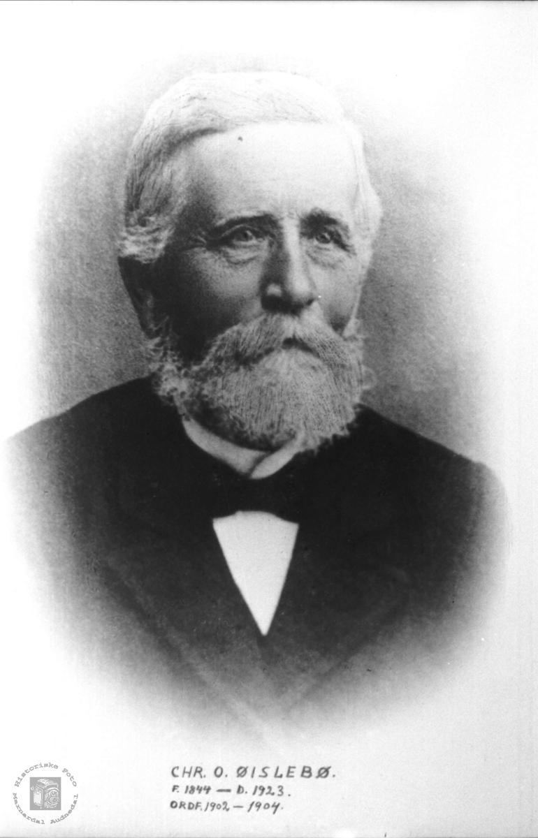 Portrett av ordførar Chr. O. Øislebø