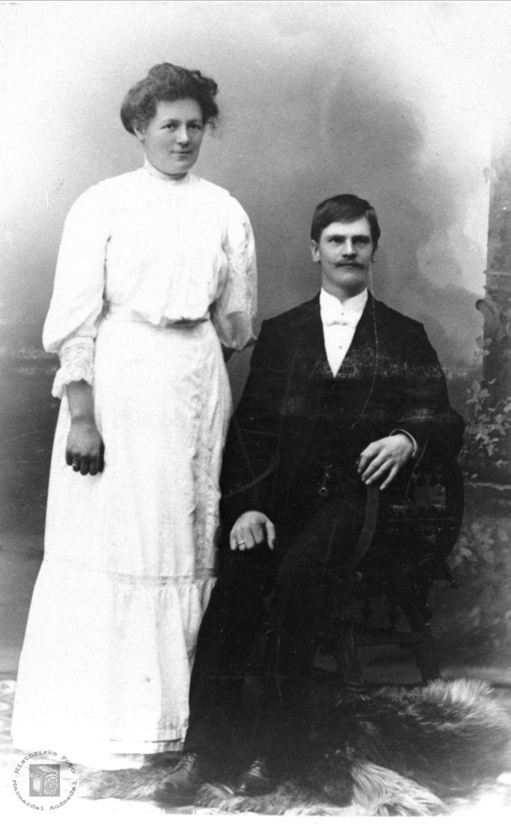 Ekteparet Rasmine og Martin Tjomsås
