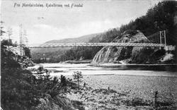 Kabelbroen ved Finsdal, Øyslebø Marnardal.