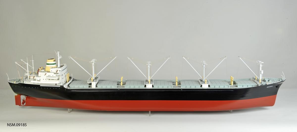 Bulkcarrier, bygget AB Uddevallavarvet 1965 , bru akter. Skala  1:100