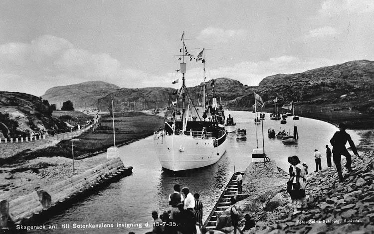 Sotenkanalen invigs sommaren 1935