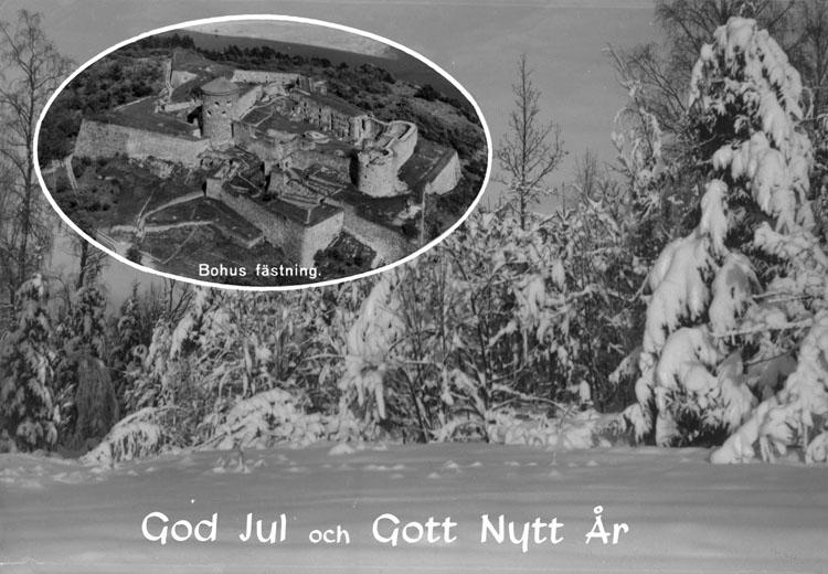 """Enligt AB Flygtrafik Bengtsfors: """"Bohus fästning Bohuslän""""."""