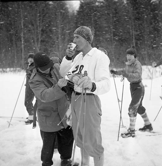 Distriktsmästerskap i längdåkning i Uddevalla, 1956