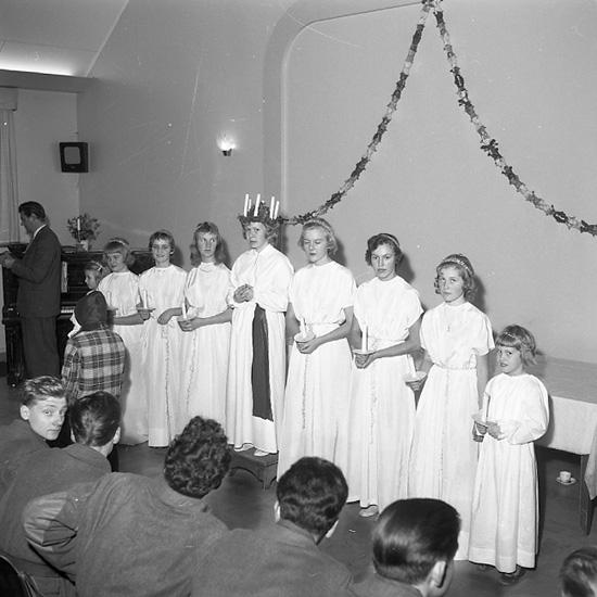 """""""På I 17 Libanon. Luciafest 17 december 1956"""""""