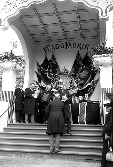 Prisutdelning vid Nordisk Fiskeriutställning i Marstrand 1904