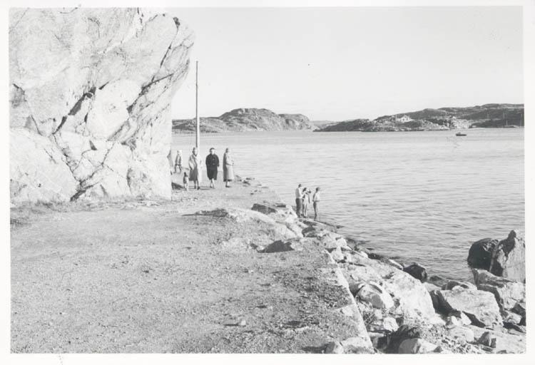 """Noterat på kortet: """"Marstrand. Södra inloppet. 4.11.1961."""""""