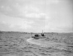 """Enligt text som medföljde bilden: """"Lysekil, Pansarbåten Oden"""