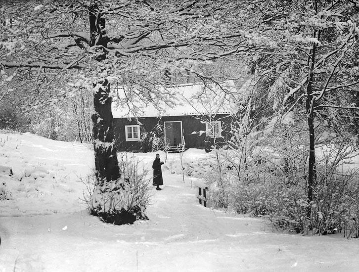 """Enligt fotografens noteringar: """"Fröken Signe Johansson, Smedbruket."""""""
