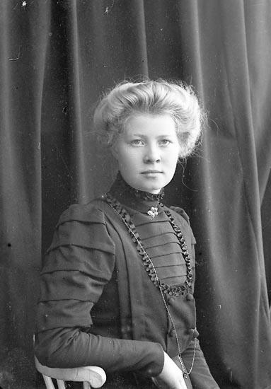 "Enligt fotografens journal nr 2 1909-1915: ""Axelsson, Anna Åker Stenungsund""."