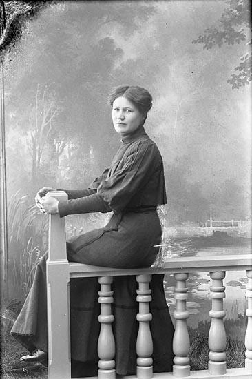 "Enligt fotografens journal nr 1 1904-1908: ""Josefsson, Hulda Fr. Stenungsund""."