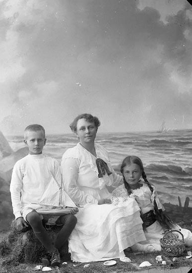 """Enligt fotografens journal nr 3 1916-1917: """"Berg, Fru Postmästare Ockelbo""""."""