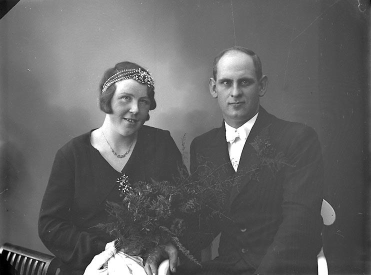 """Enligt fotografens journal nr 6 1930-1943: """"Karlsson, David Box 96, Floda st.""""."""