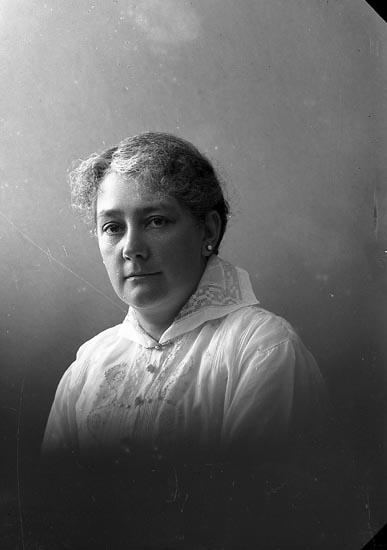 """Enligt fotografens journal nr 3 1916-1917: """"Heijl, Fru Göteborg""""."""