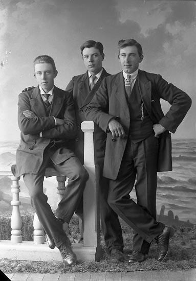 """Enligt fotografens journal nr 3 1916-1917: """"Berntsson, Artur Munkeröd, Här""""."""