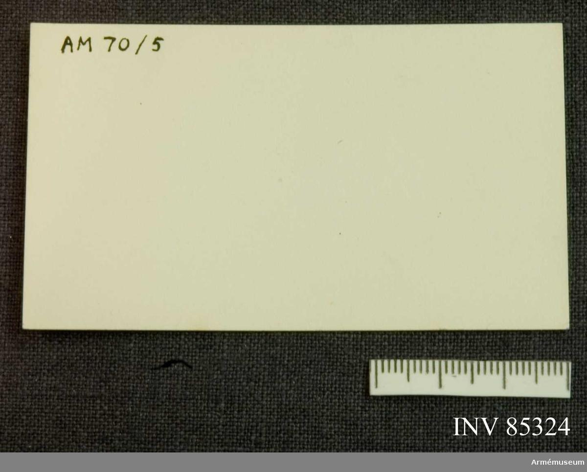 Grupp M V. Visitkort för K.P. Kempe, volontär samt senare distinktionskorpral vid Kongl. Skaraborgs regemente 1889-1895 (sedermera polis i Skövde)