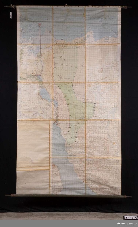 Kartor. FN-zoner, Egypten/Israel. 1975-79. 2 st kartor över olika FN zoner i Egypten och Israel.