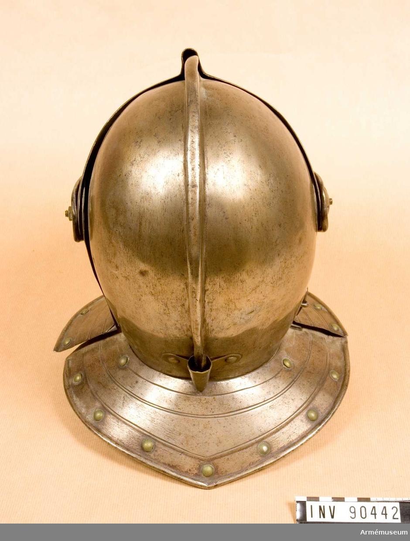 Visirhjälm från 1600-talets början, möjligen svensk.