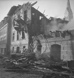 "Text till bilden :""Branden. Grand Hotell. 1946.10.22""."