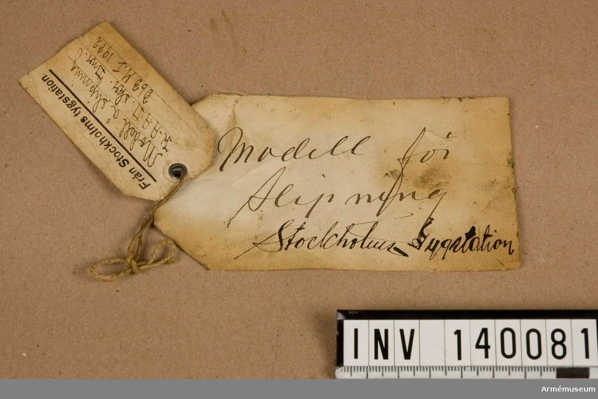 Modellappar för sabel m/1893