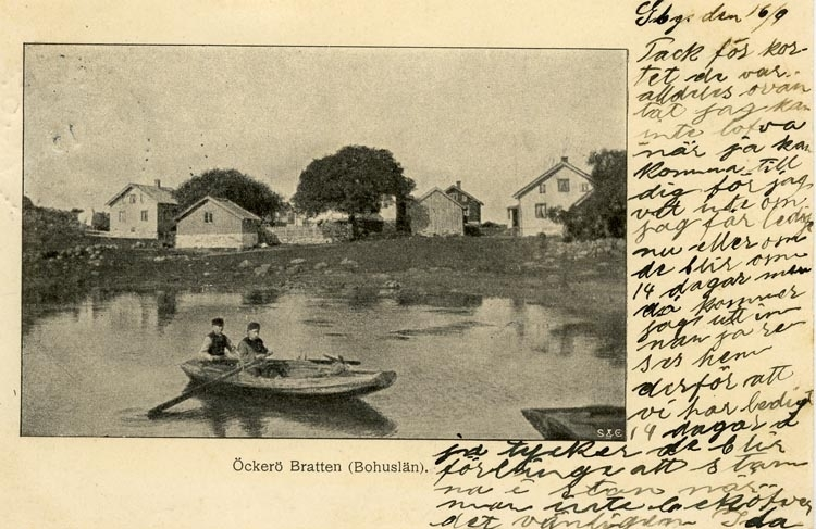 Notering på kortet: Öckerö. Bratten (Bohuslän).