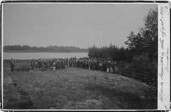 """""""Skogsodlingens vänners sista utfart på Hunneberg 1884"""" enli"""