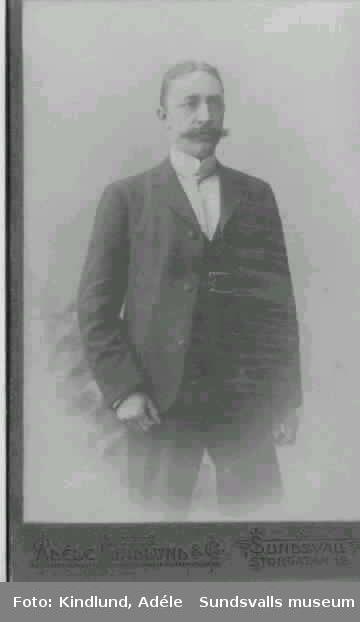 Grosshandlare Gustaf Rönnholm, Sundsvall.