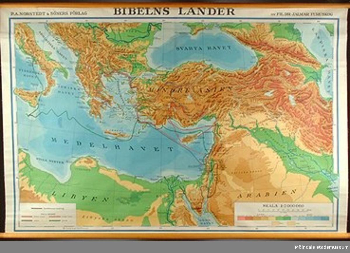 Geografisk karta över bibelns länder.