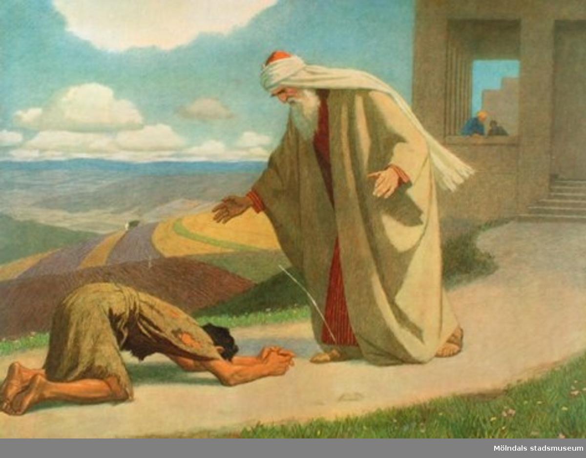 Kristendomskunskap:Den förlorade sonen. Bibeln i bild nr. 38.Konstnär: G. Fugel.