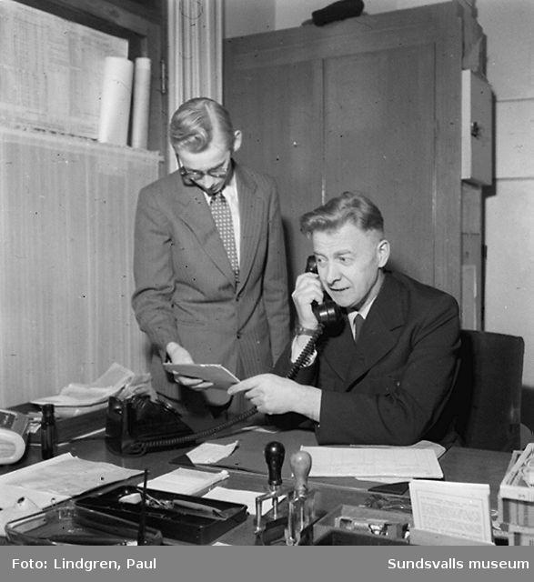 S.C. A :s Budtjänst.  Datum: 1954-03