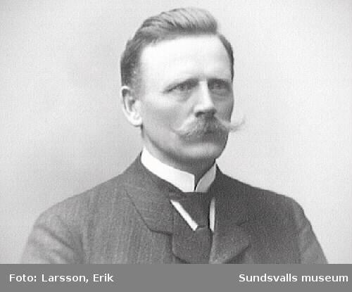 P. Hertzel, lärare på Skönviks skola, 1911.