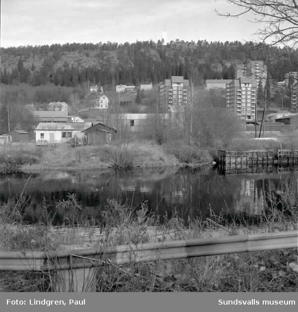 Vy över Alliero. Punkthusen byggdes 1954 till 1957.