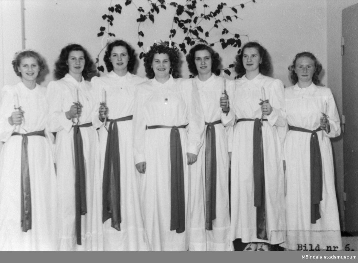 Luciauppvaktning på August Werners fabriker 1948.