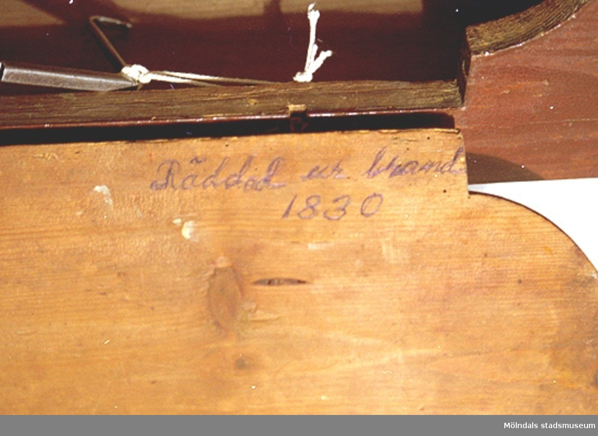 """""""Räddad ur brand 1830""""."""