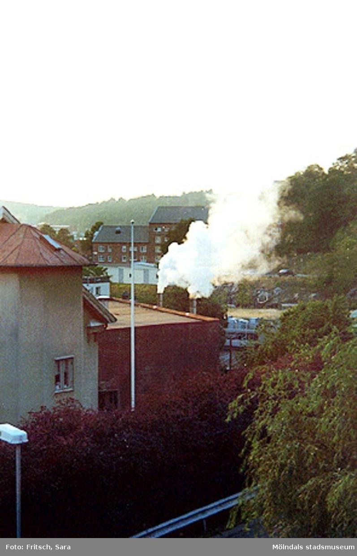Stadsvy över Mölndals Kvarnby, 1996.