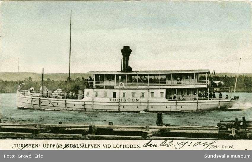 """""""Turisten"""" på Indalsälven vid Lövudden."""
