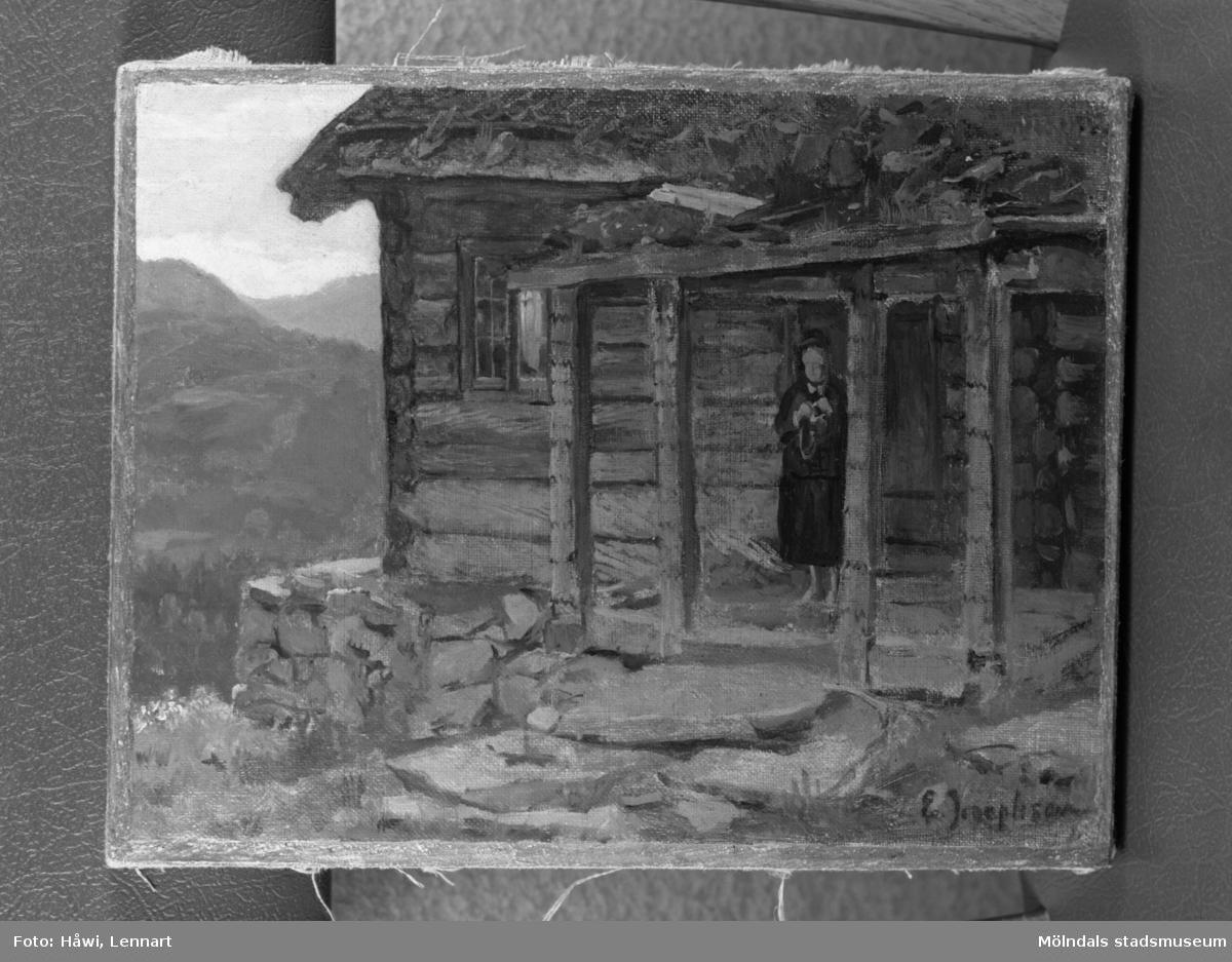 Papyrus i Mölndal, 2/9 1955. Tavla, Tibell.