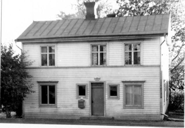 Ragunda postområde. Bispgården posstation, exteriör.