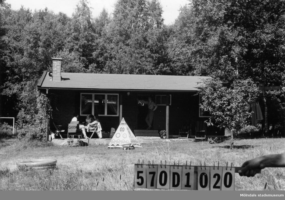 Byggnadsinventering i Lindome 1968. Annestorp 2:175. Hus nr: 570D1020. Benämning: fritidshus och redskapsbod. Kvalitet, fritidshus: mycket god. Kvalitet, redskapsbod: god. Material: trä. Tillfartsväg: ej framkomlig. Renhållning: soptömning.