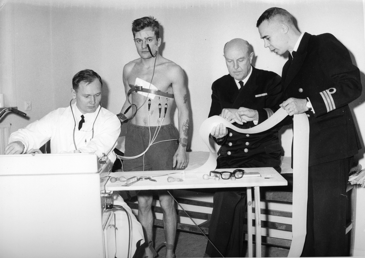 Övrigt: Under mönstringskommisionens arbete. EKG