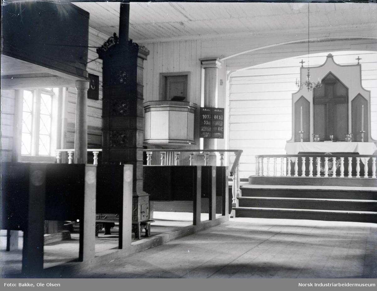 Interiør i Austbygde Kirke