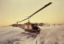 Norsk helikopter av typen Bell 412 UH-1 B med nr. 580.