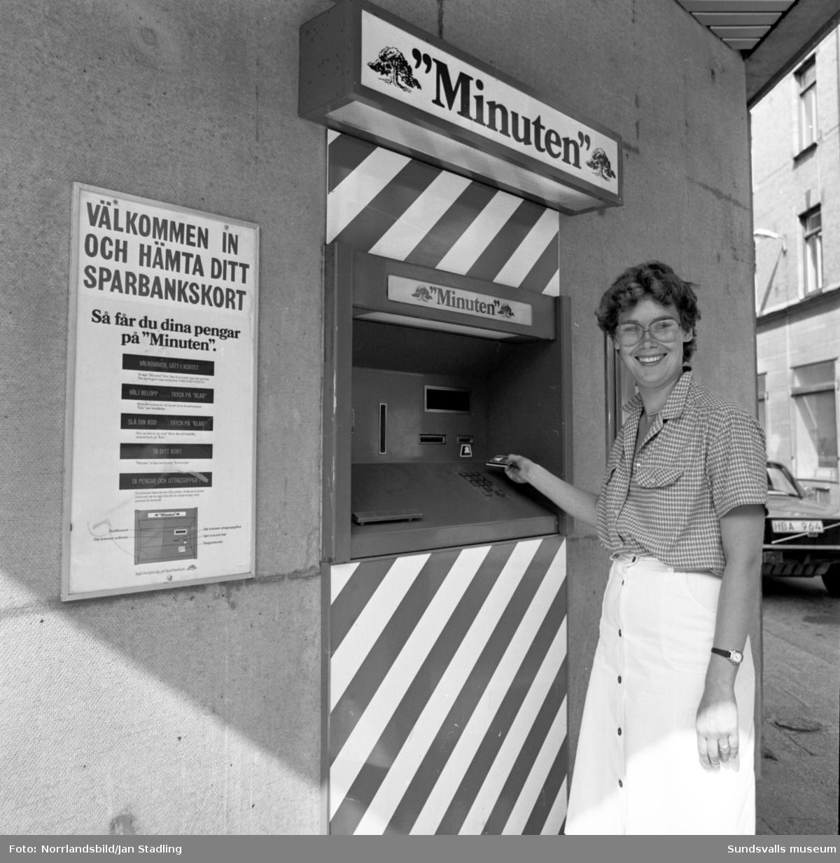 Sparbanken Västernorrland, Minutenautomat.